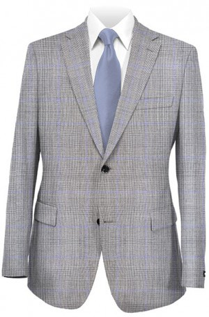 Hickey Freeman Gray Glen Plaid Suit F41-312008