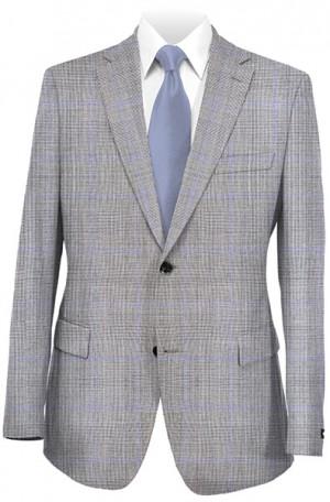 Hickey Freeman Gray Glen Plaid Suit #F41-312008