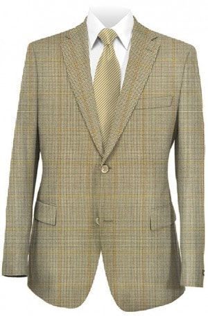 Hickey Freeman Tan Pattern Sportcoat #F41-512002