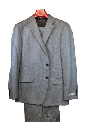 Hickey Freeman Black & White Houndstooth Suit #F51-312028