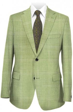 Hickey Freeman Green Windowpane Sportcoat #F51-512003