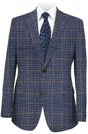 Hickey Freeman Blue Plaid Sportcoat