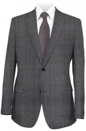 Hickey Freeman Gray Plaid Suit F61-312007
