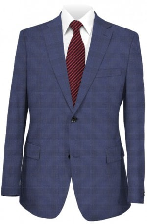 Hickey Freeman Light Navy Pattern Suit F61-312100