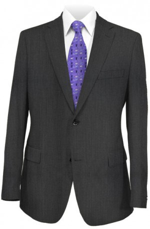 Hickey Freeman Charcoal Micro-Check Suit F61-312104