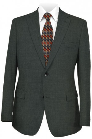 Hickey Freeman Charcoal Gray Suit #F61-312702