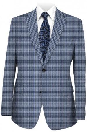 Hickey Freeman Blue Houndstooth Sportcoat #F61-512024