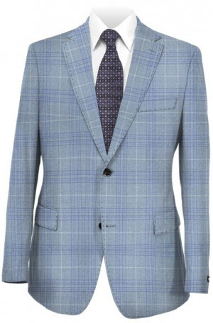 Hickey Freeman Light Blue Pattern Sportcoat #F61-512025