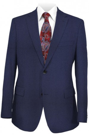 Hickey Freeman Light Flannel Blue Suit F65-312113