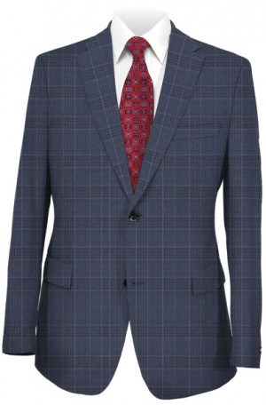 Hickey Freeman Blue Plaid Suit F65-312135