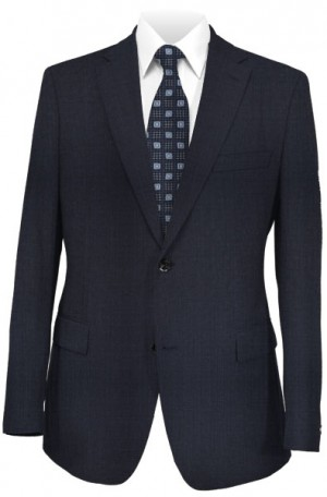 Hickey Freeman Navy Micro-Check Suit #F71-312001