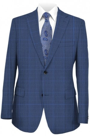 Hickey Freeman Blue Pattern Suit F71-312100