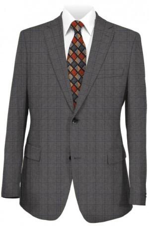 Hickey Freeman Gray Windowpane Suit F71-312101
