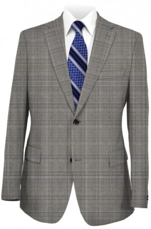 Hickey Freeman Gray Plaid Suit F71-312103