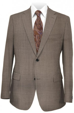 Hickey Freeman Tan Solid Color Suit F71-312107