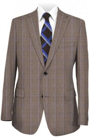 Hickey Freeman Tan Windowpane Suit #F71-312108