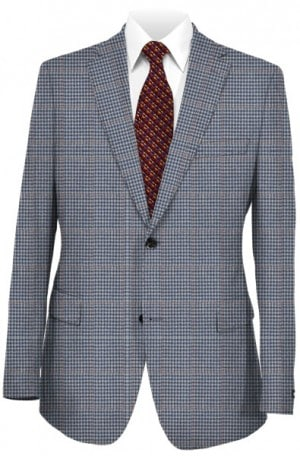 Hickey Freeman Blue Pattern Sportcoat #F71-512102