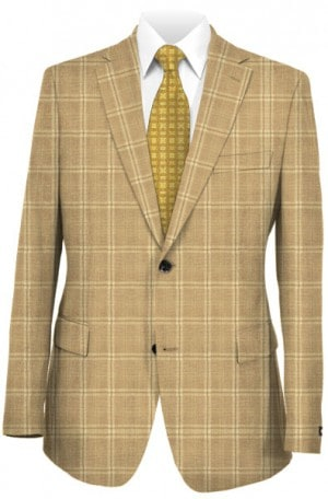 Hickey Freeman Tan Windowpane Sportcoat #F71-512106