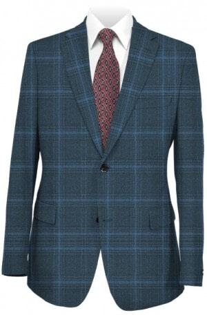 Hickey-Freeman Blue Pattern Sportcoat #F71-512110