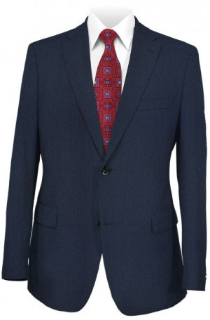 "Hickey Freeman Blue ""Dot"" Suit F75-312030"