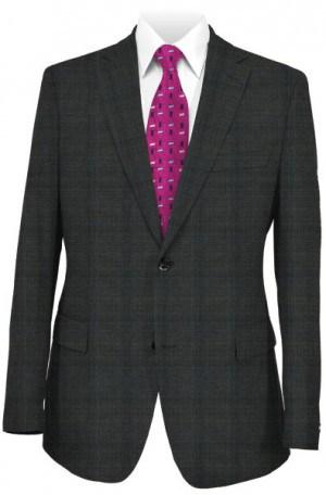 Hickey Freeman Dark Gray Windowpane Suit F75-312036