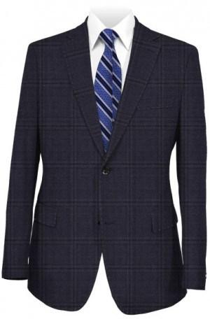 Hickey Freeman Navy Windowpane Suit F75-312037