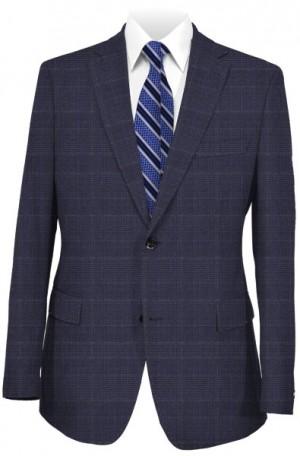 Hickey Freeman Navy Pattern Wool-Silk Suit #F75-312038