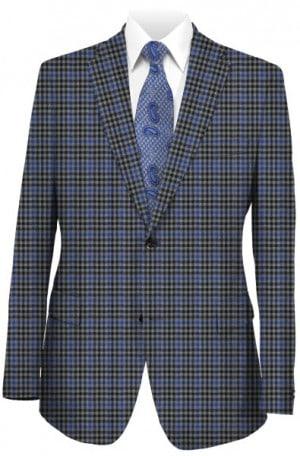 Hickey Freeman Blue Check Sportcoat #F75-512004