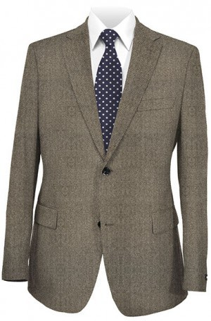 HICKEY Medium Grey Herringbone SPORTCOATS F75-525005