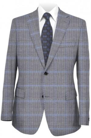 Hickey Freeman Gray Windowpane Suit F81-312000
