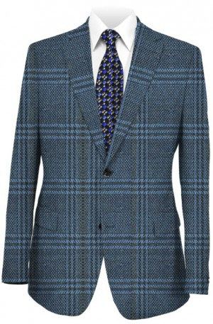Hickey Freeman Blue Pattern Sportcoat #F81-512000