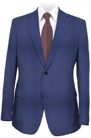 Hickey Freeman Blue Shadow Stripe Suit #F85-312004