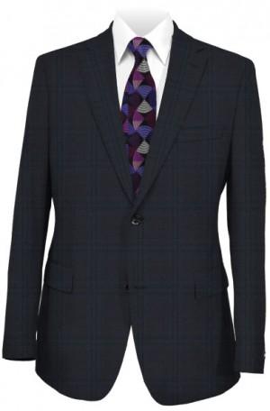 Hickey Freeman Navy Windowpane Suit #F85-312010