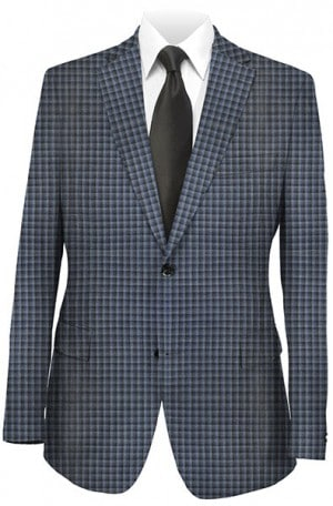 Tiglio Blue Pattern Tailored Fit Sportcoat FR1565-4.