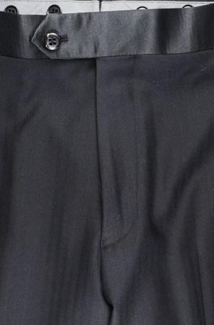 Tiglio Black Fine Herringbone Peak Lapel Tuxedo #FT3022-4l Tuxedo - Made in Italy