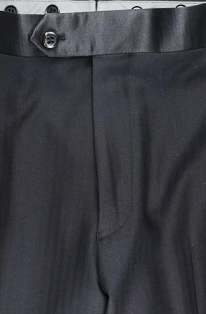 Tiglio Black Fine Herringbone Peak Lapel Tailored Fit Tuxedo #FT3022-4 Tuxedo