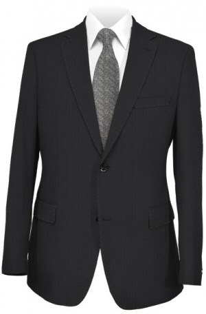 Tiglio Black Tone-on-Tone Tailored Fit Suit FT3100-2