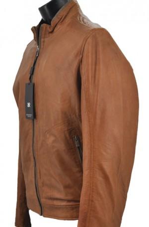 """Regency """"Cognac"""" Bomber Jacket #GAVIN-2"""