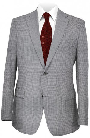 Elle Tahari Gray Tick Weave Tailored Fit Suit HBY0150