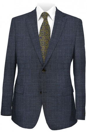 Elie Tahari Navy Wool-Silk Tailored Fit Sportcoat #HTW0005