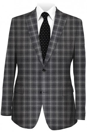 Elie Tahari Gray Pattern Tailored Fit Sportcoat #HTY0095