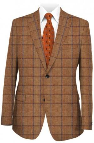 Alberto Biagio Rust Windowpane Sportcoat #J602