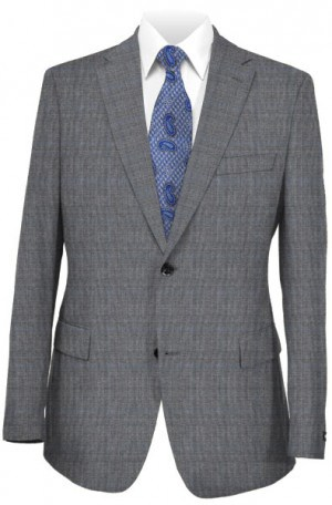 Michael Kors Gray Pattern Tailored Fit Suit K2Z0962