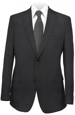 Michael Kors Black Tone-on-Tone Tailored Fit Suit K2Z1078