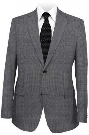 Michael Kors Gray Micro-Check Tailored Fit Suit K2Z1173
