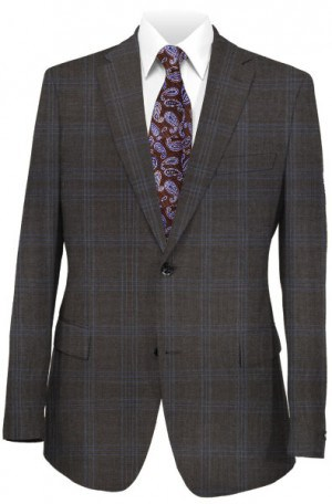 Michael Kors Brown Pattern Tailored Fit Suit K2Z1200