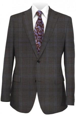 Michael Kors Brown Pattern Tailored Fit Suit #K2Z1200