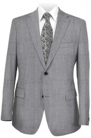 Michael Kors Silver-Gray Tailored Fit Suit K2Z1224