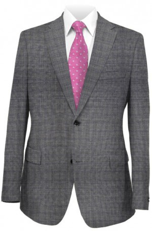 Michael Kors Gray Pattern Tailored Fit Suit K2Z1226