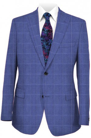 Michael Kors Blue Windowpane Tailored Fit Suit K2Z1248